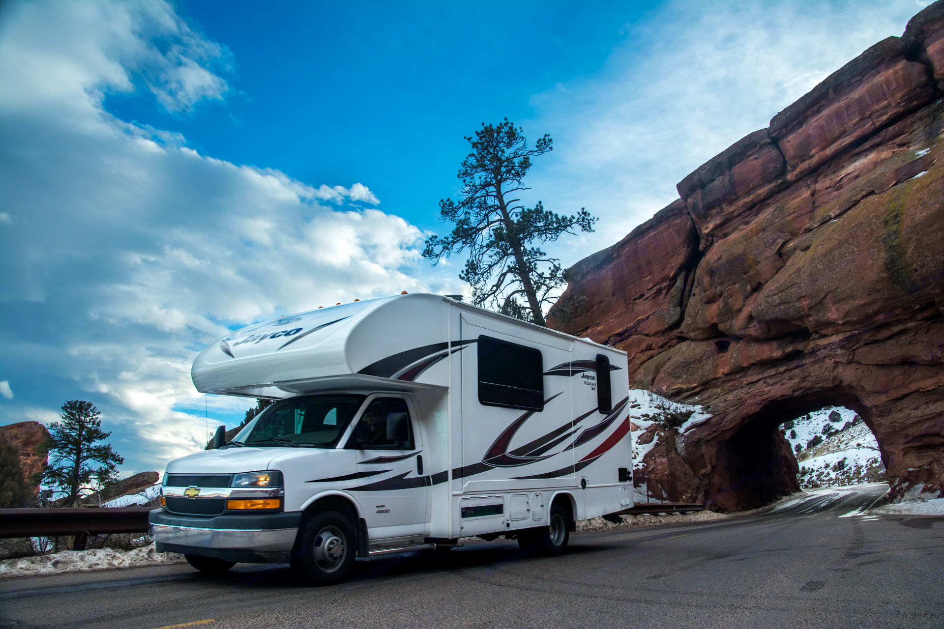 Traverse any terrain with brand new tires.. Jayco Redhawk 2019