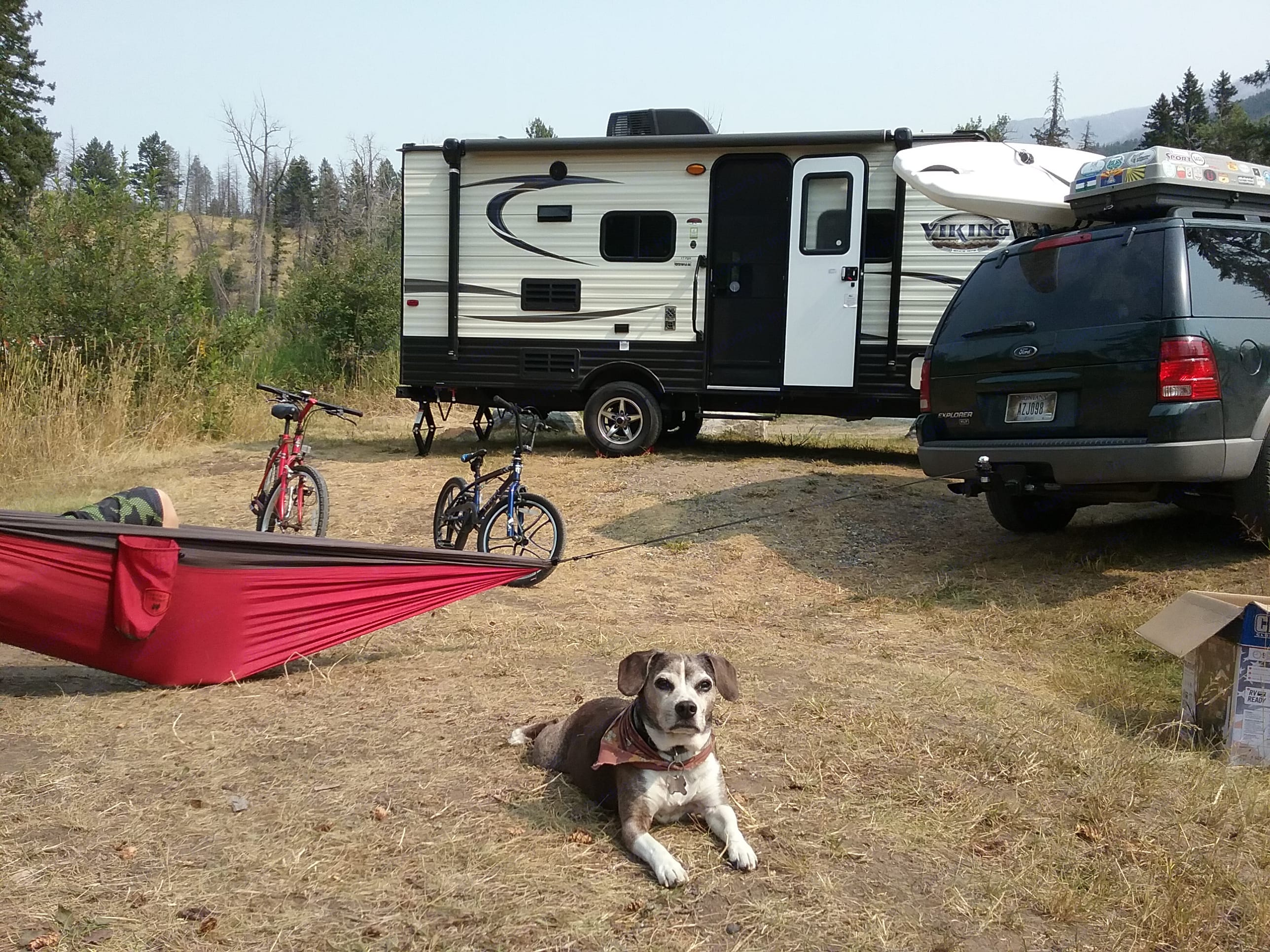 Here we're enjoying our 2017 model that was the same size and floorplan as the new one!. Coachmen Viking 2019