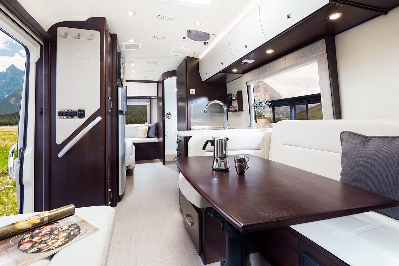 Dining area converts in to a full bed.. Leisure Travel Serenity 2016