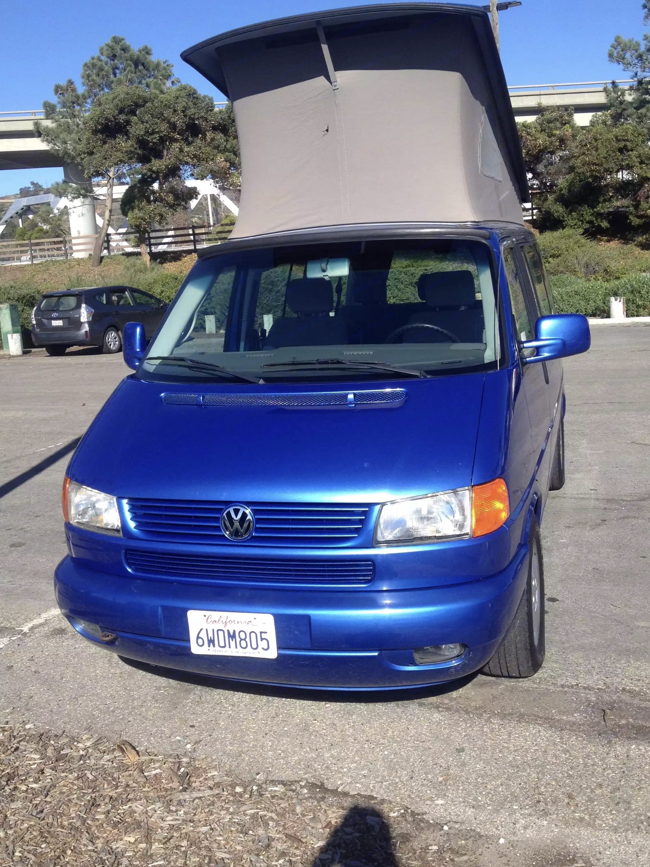 Close up of front.  New paint job all around. . Volkswagen VW Eurovan Weekender 2001