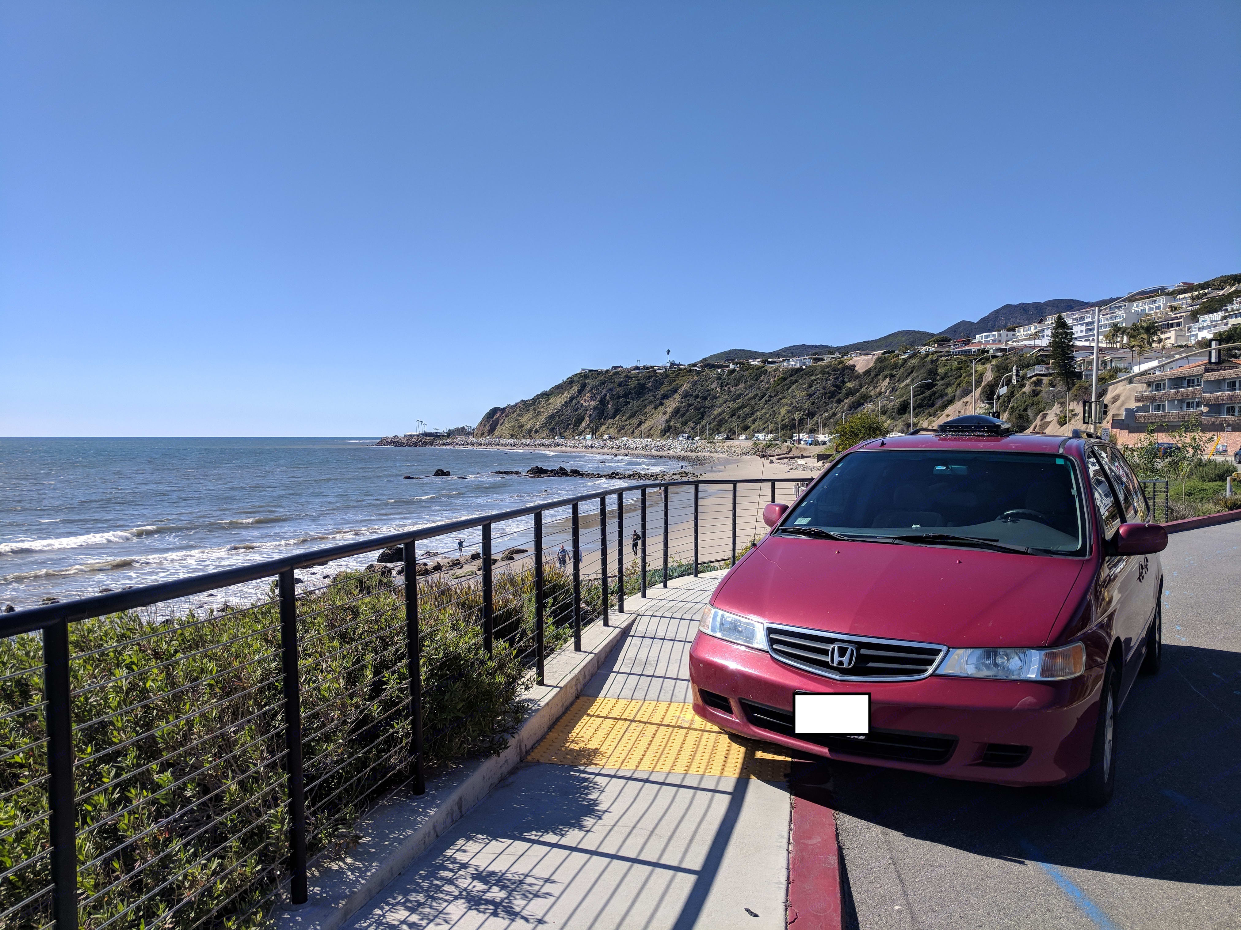 On a trip to Malibu. Honda Ody 2002