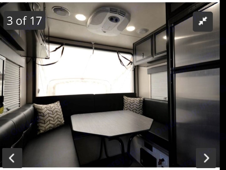 With the back open, though the light is washed out. It feels much bigger when the back is tipped out--adding the extra bed too. . Livin' Lite Camplite 2018