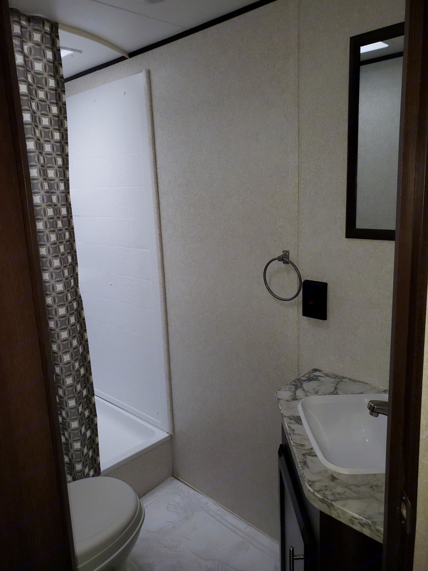 extra roomy shower, one of the biggest ones we've seen in an RV!. Jayco Flight 284BHS SLX 2019