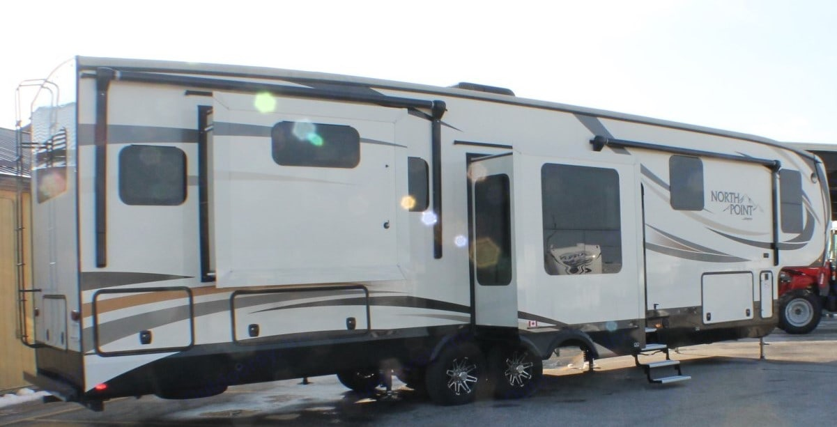 Partial Rear Outside View. Jayco North Point 2017