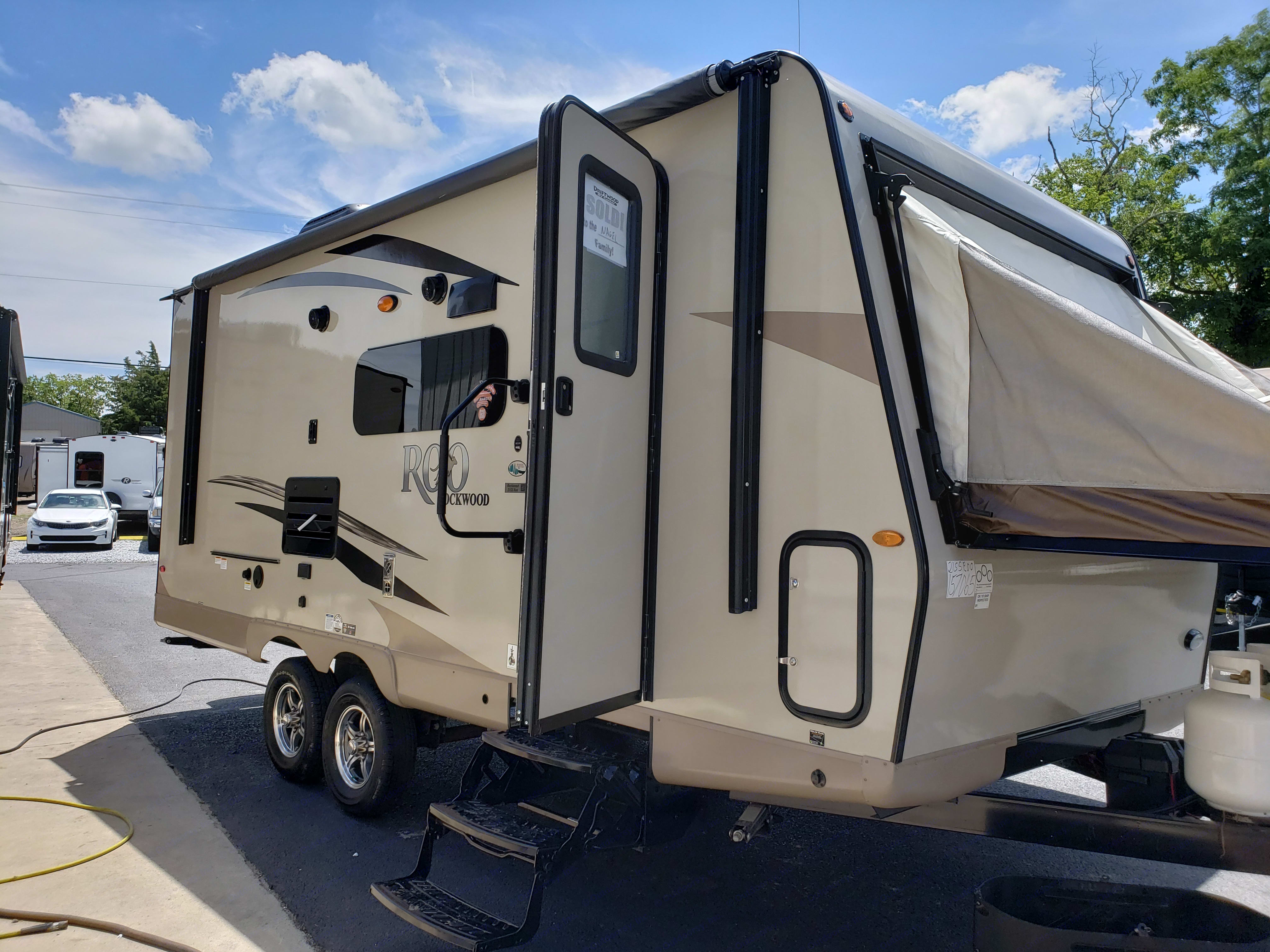 The 2019 Forest River Rockwood Roo has a pop out sleeping area on each end.. Forest River Rockwood Roo 2019