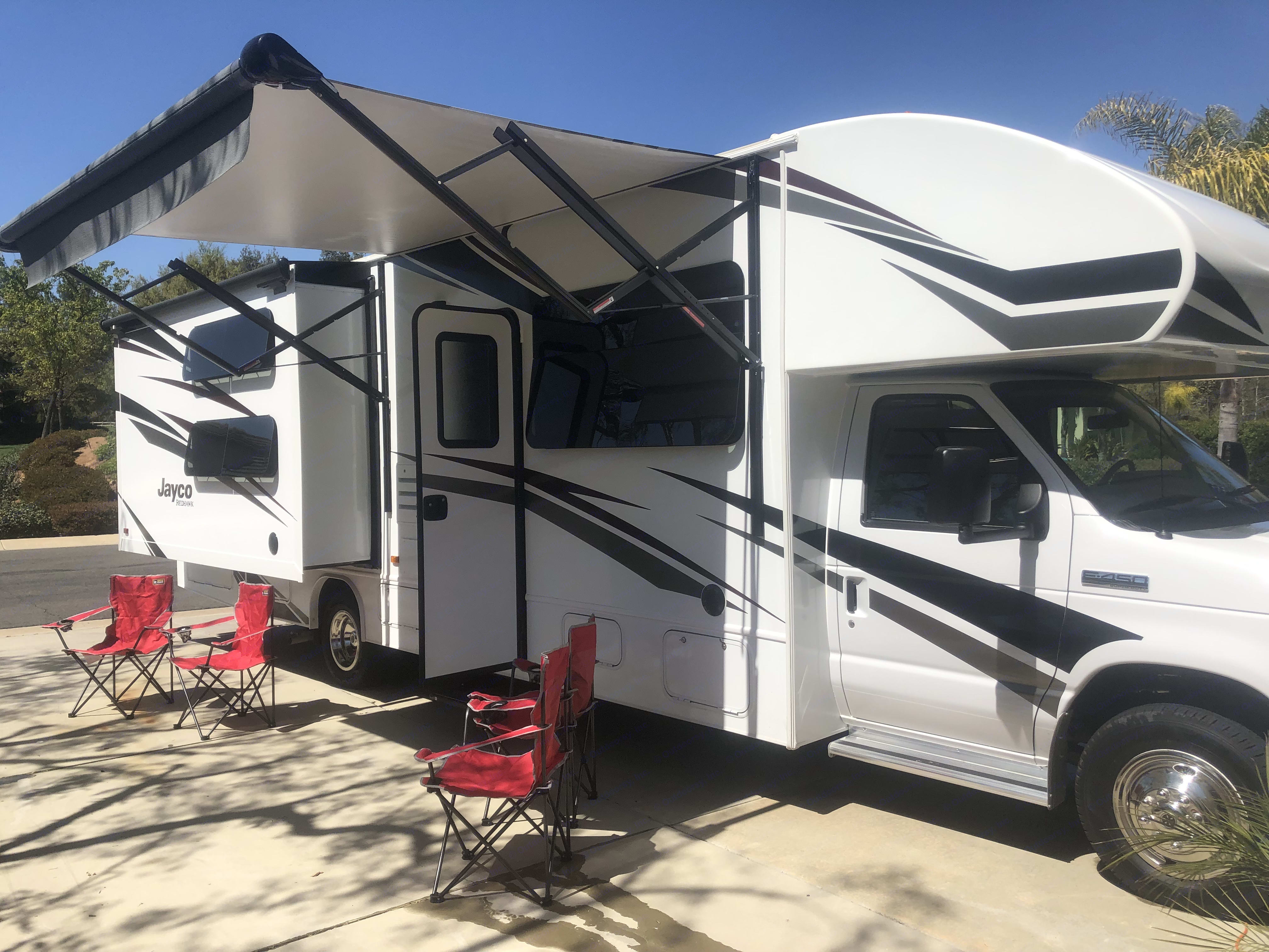 Brand new!!!!!  4 chairs for fun in the Sun👍🏻👍🏻. Jayco Redhawk 2019