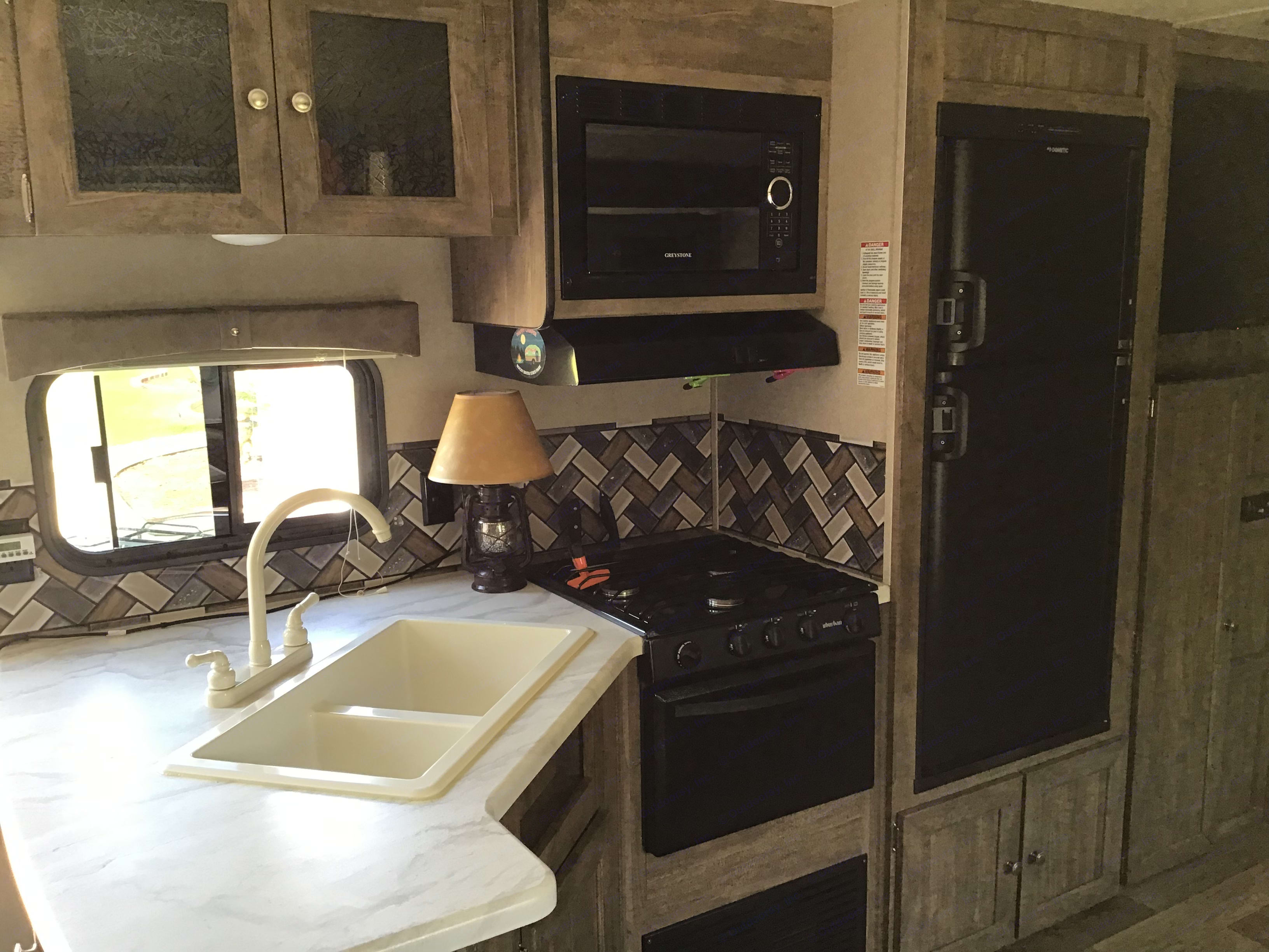 Nice kitchen area . Forest River Puma 2018