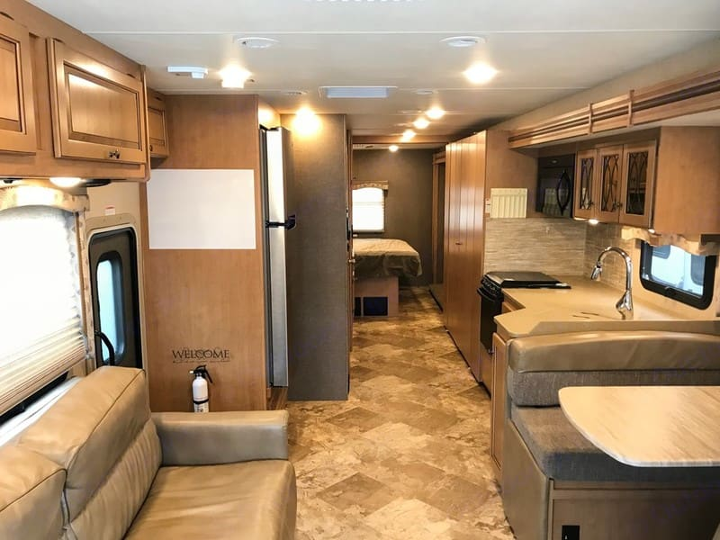 All the comforts of home. View from the front to the back.. Thor Motor Coach Windsport 2016