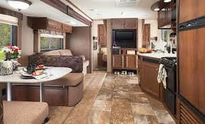 back facing front and tv on divider wall for master bed.. Jayco Camper Trailer- Swift 2014