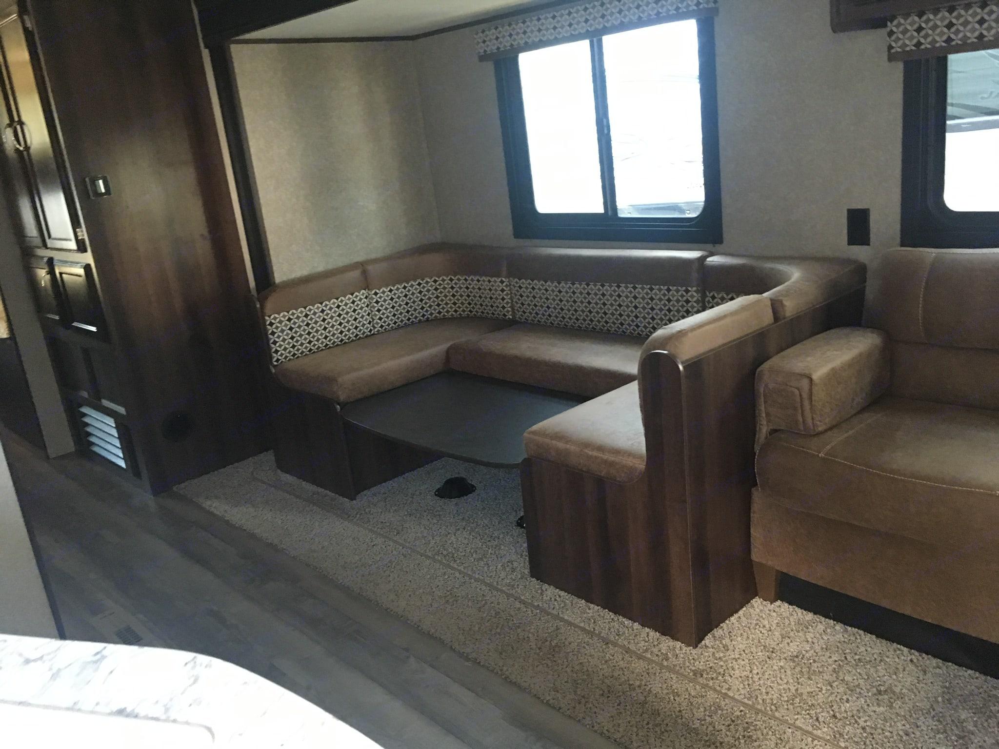 Living room area. Jayco Jay Flight 2018