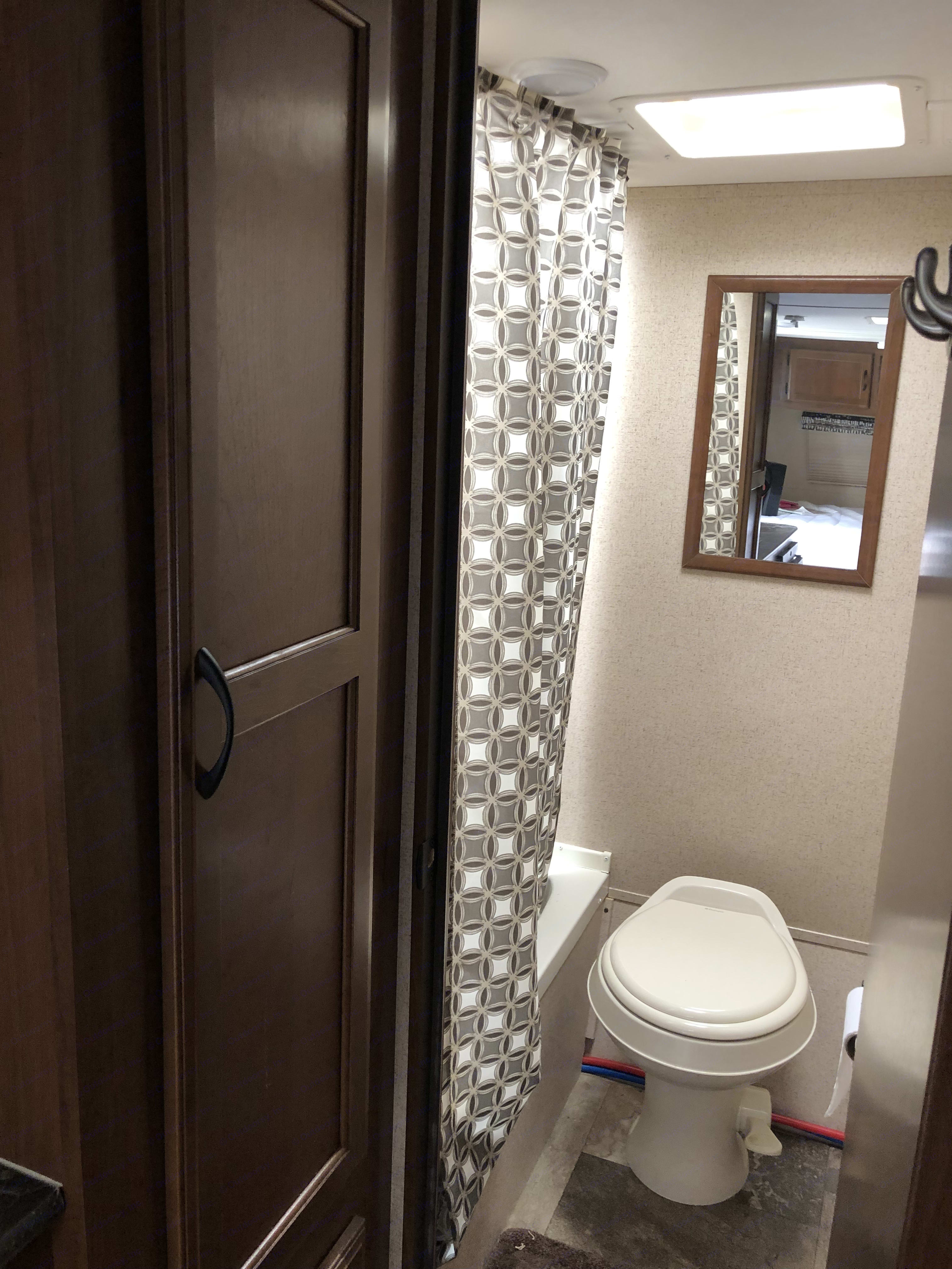 Shower and toilet area for privacy . Jayco Baja 2016