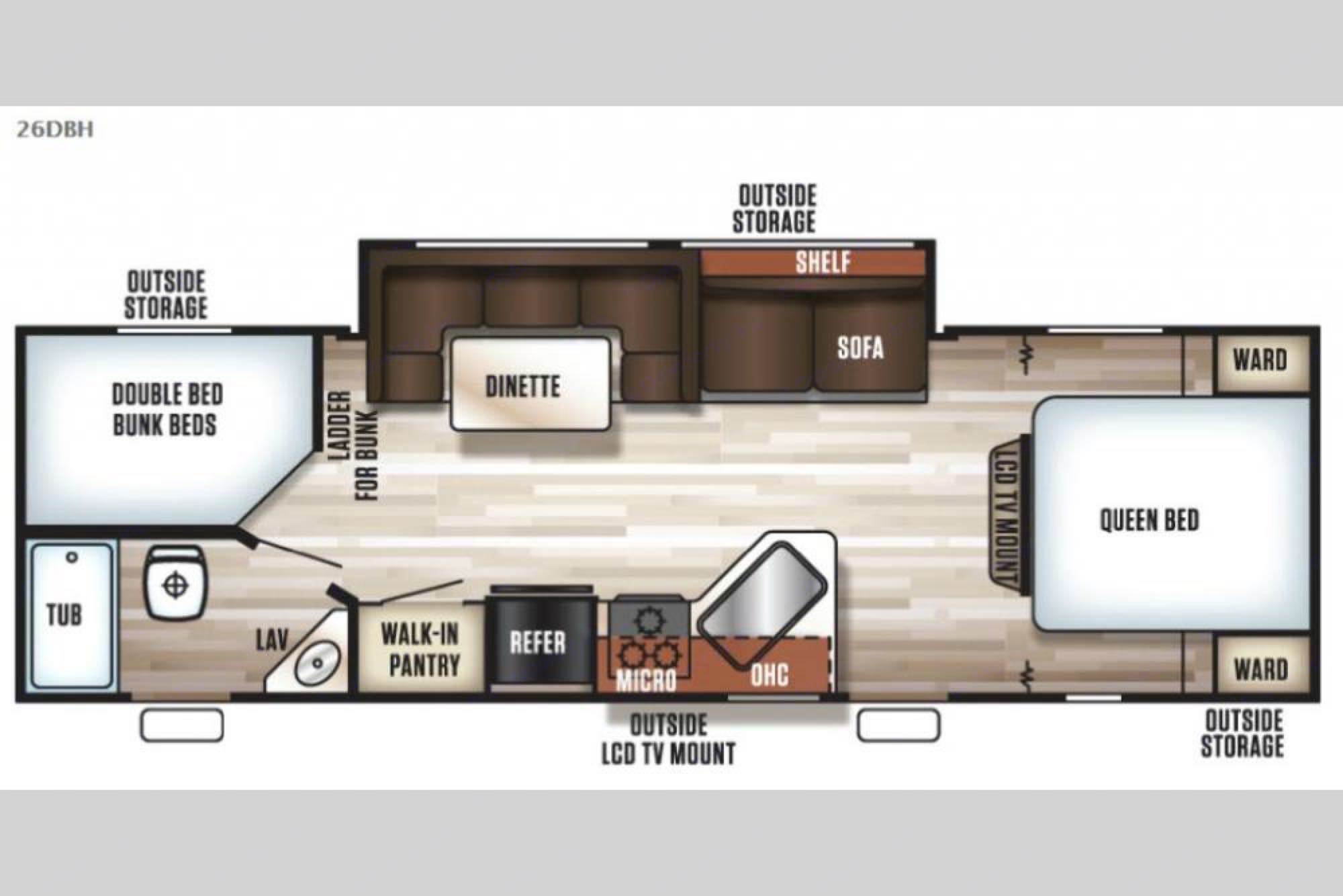 Spacious floor plan . Forest River Grey Wolf 2020