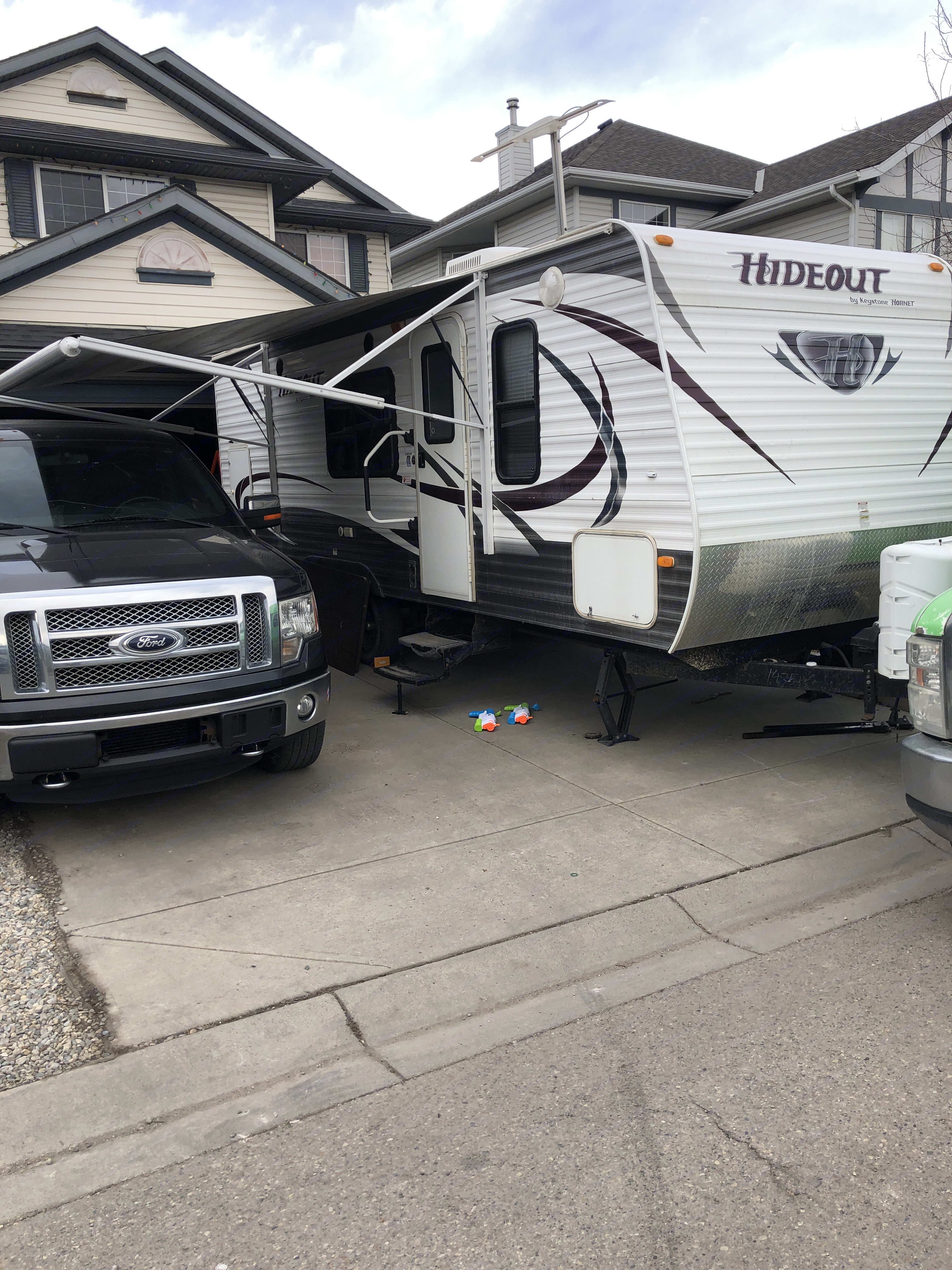Getting ready for a trip. Keystone Hideout 2014