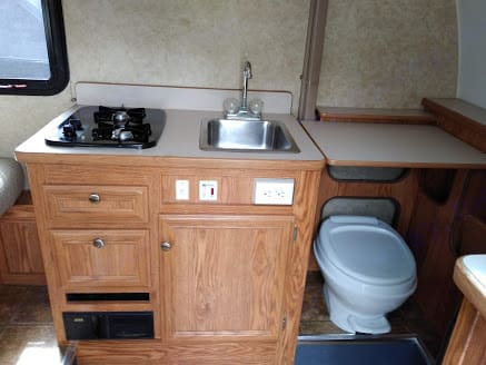 Removable extra counter space above toilet. . Serro Scotty Other 2009