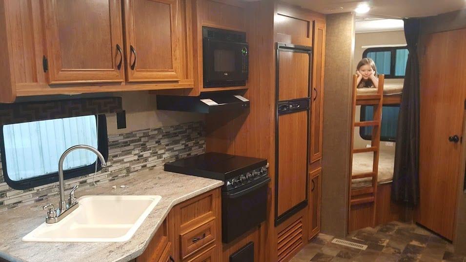 Kitchen with Double Bunks.. Starcraft AR-One Maxx 2017