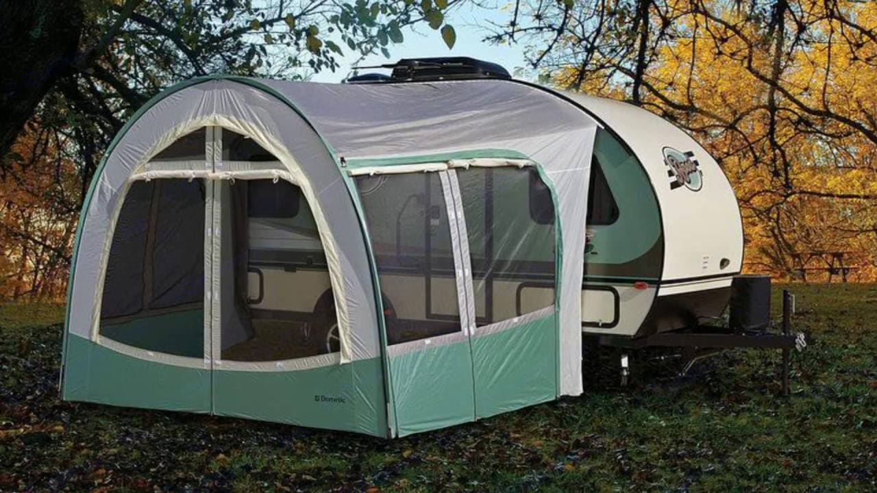 R Dome porch adds another usable room. Forest River R-Pod 2016