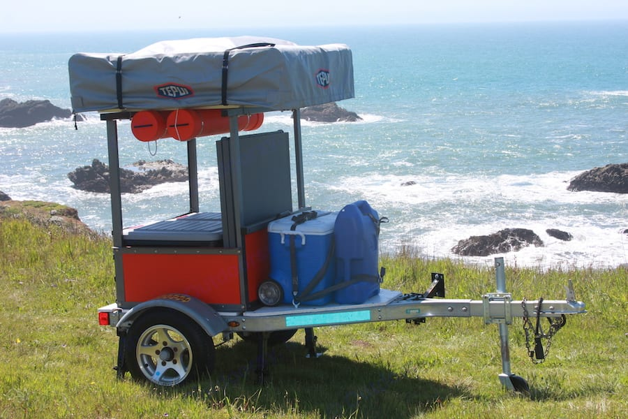 Compact Roof Top Tent Trailer is easily towable.. Custom Built Trailer with Tepui Tent Tepui Ayer 2 2018
