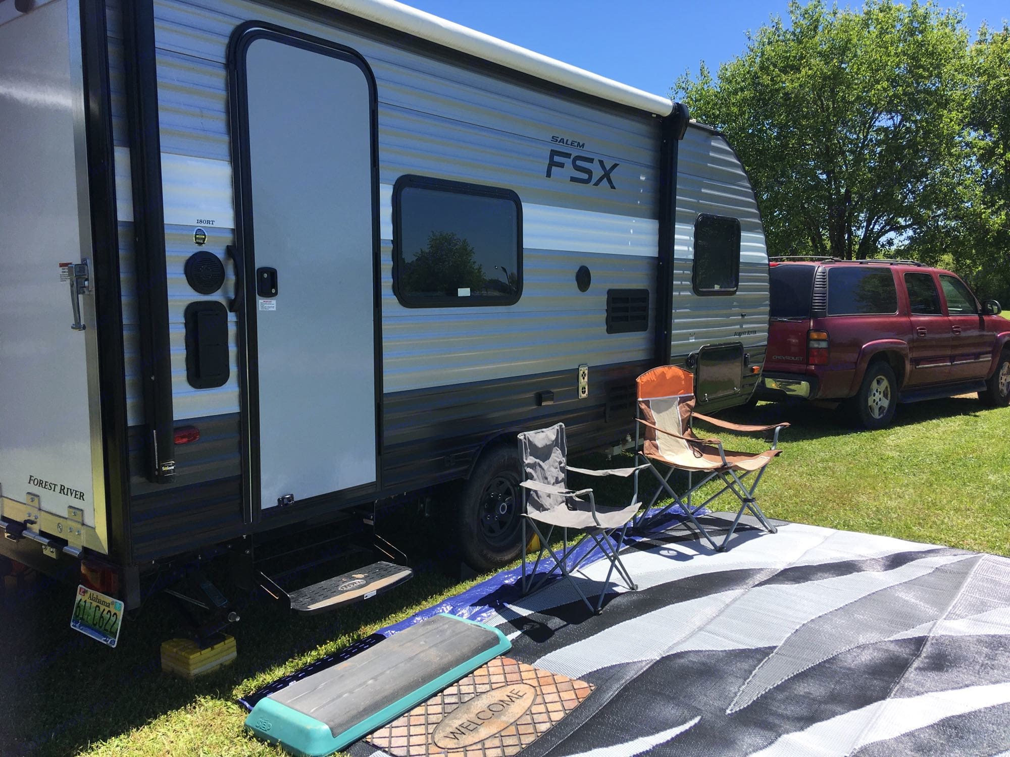 Waiting for the new renters to arrive for race week!. ForestRiver SalemFSX180RT 2019