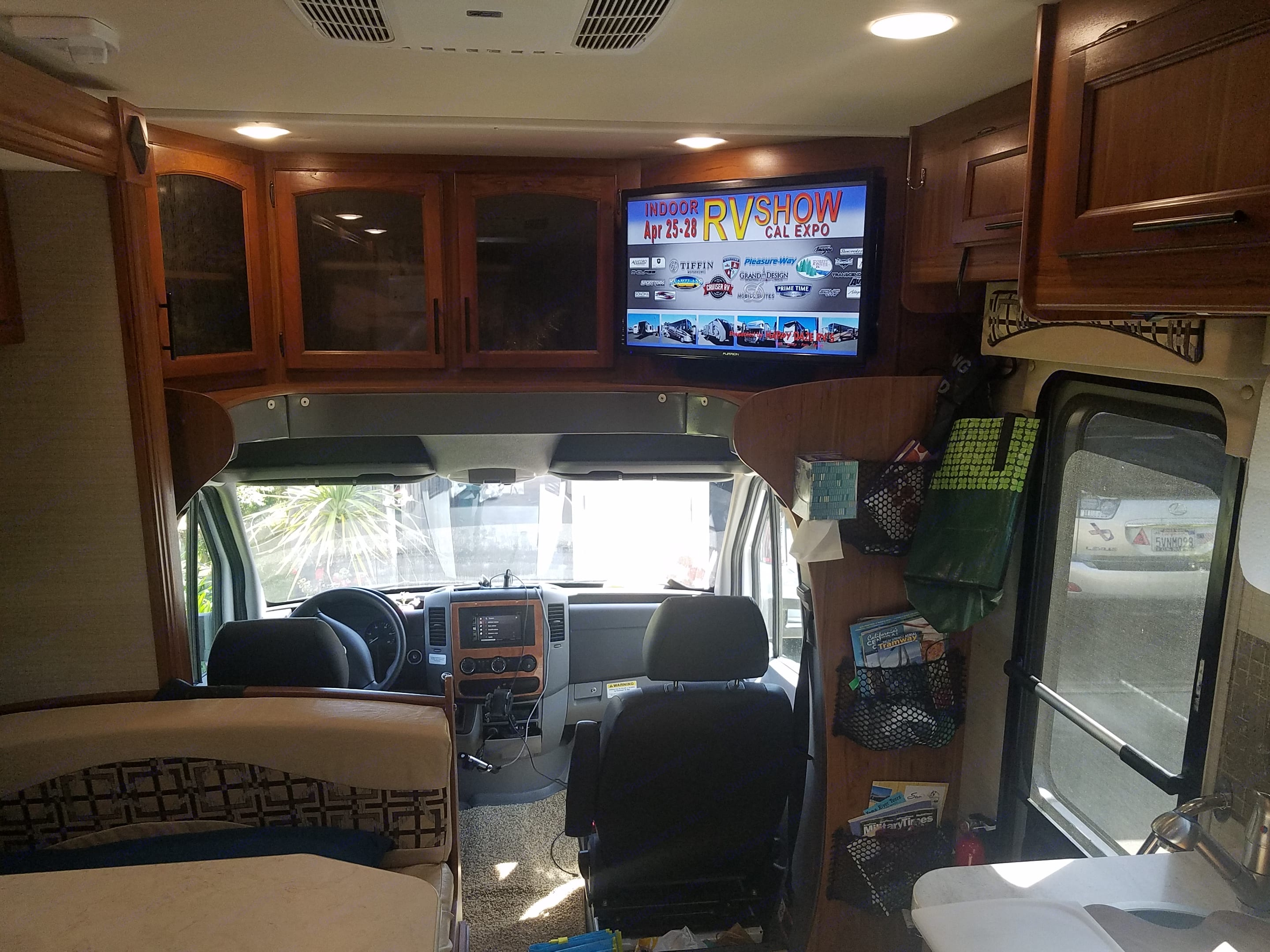 TV over cab view. Jayco Melbourne 2017