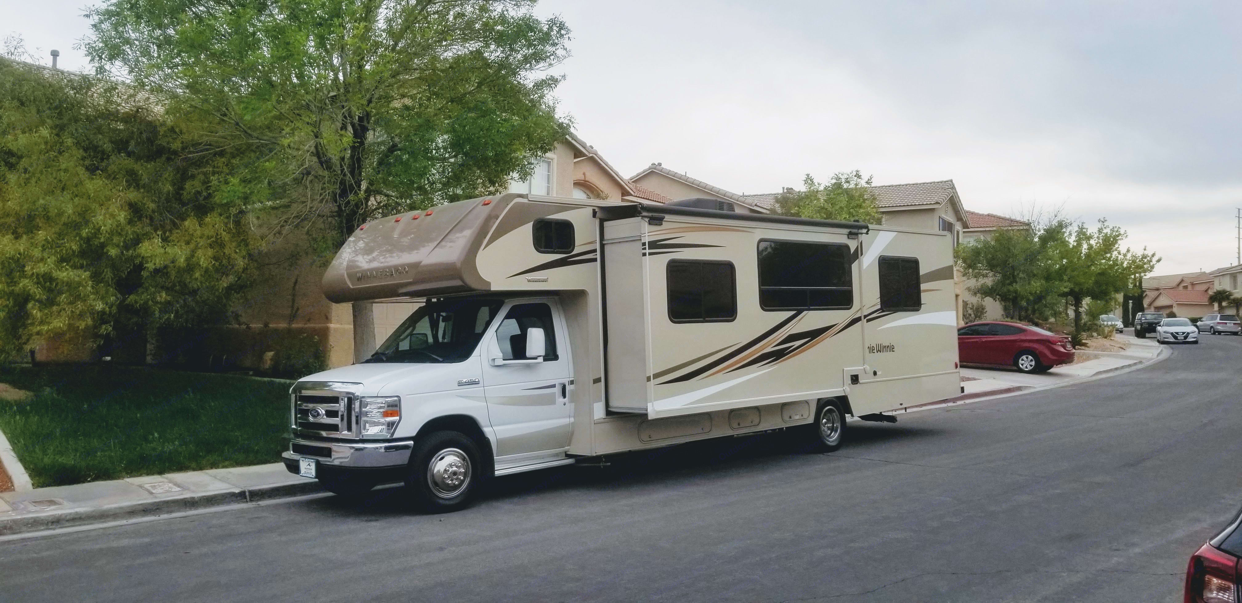 Driver's side with slider fully extended.. Winnebago Minnie Winnie 2017