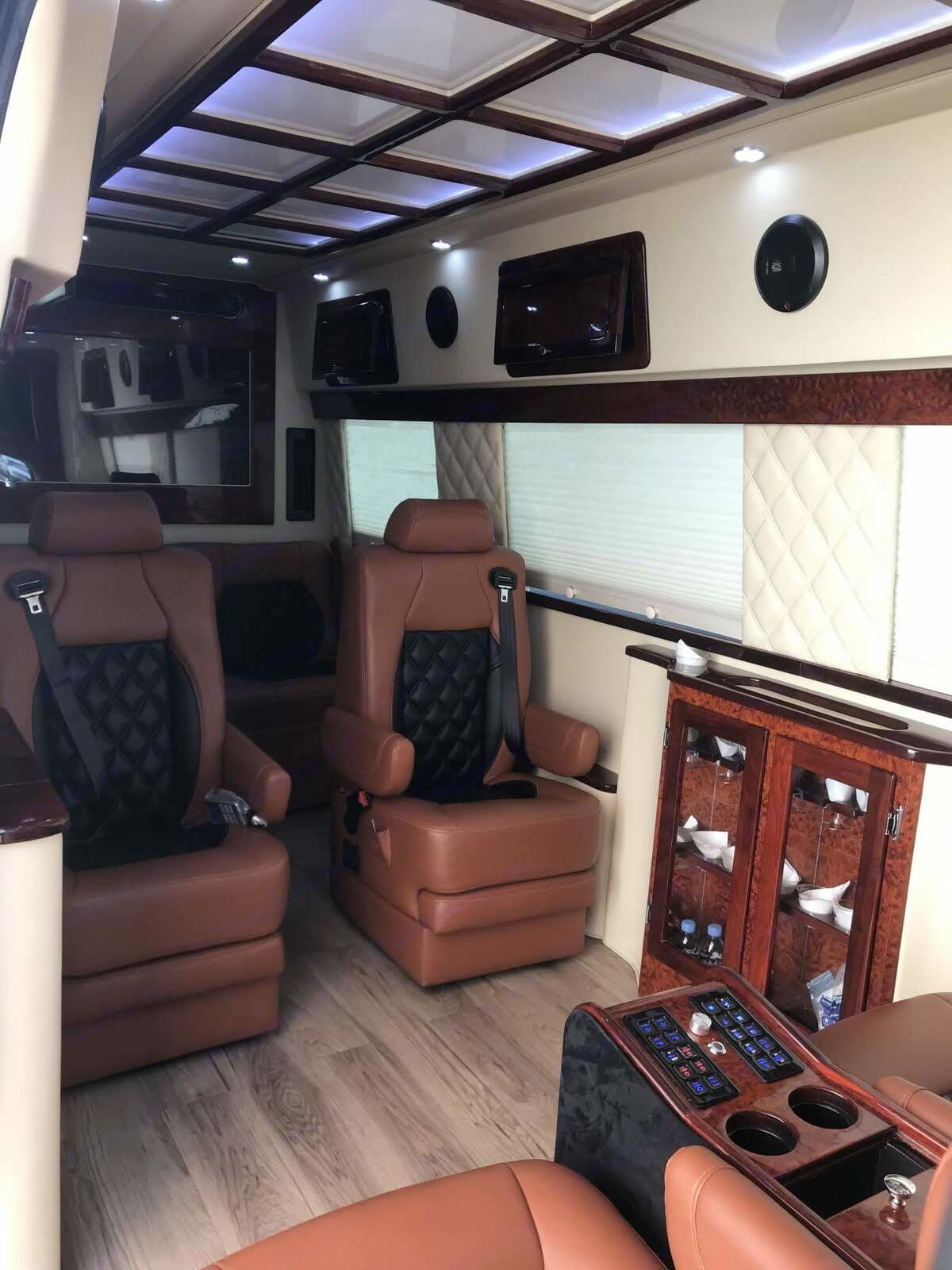 Our captain chairs I have options for you to I have your chair heated, cooled, as well as 13 different massage settings. Put the seat back grab a  PlayStation 4 controller and enjoy without realizing 12 hours went by.. Mercedes-Benz Sprinter 2013