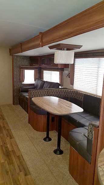 This is the dining and living area.. Heartland North Trail 2016
