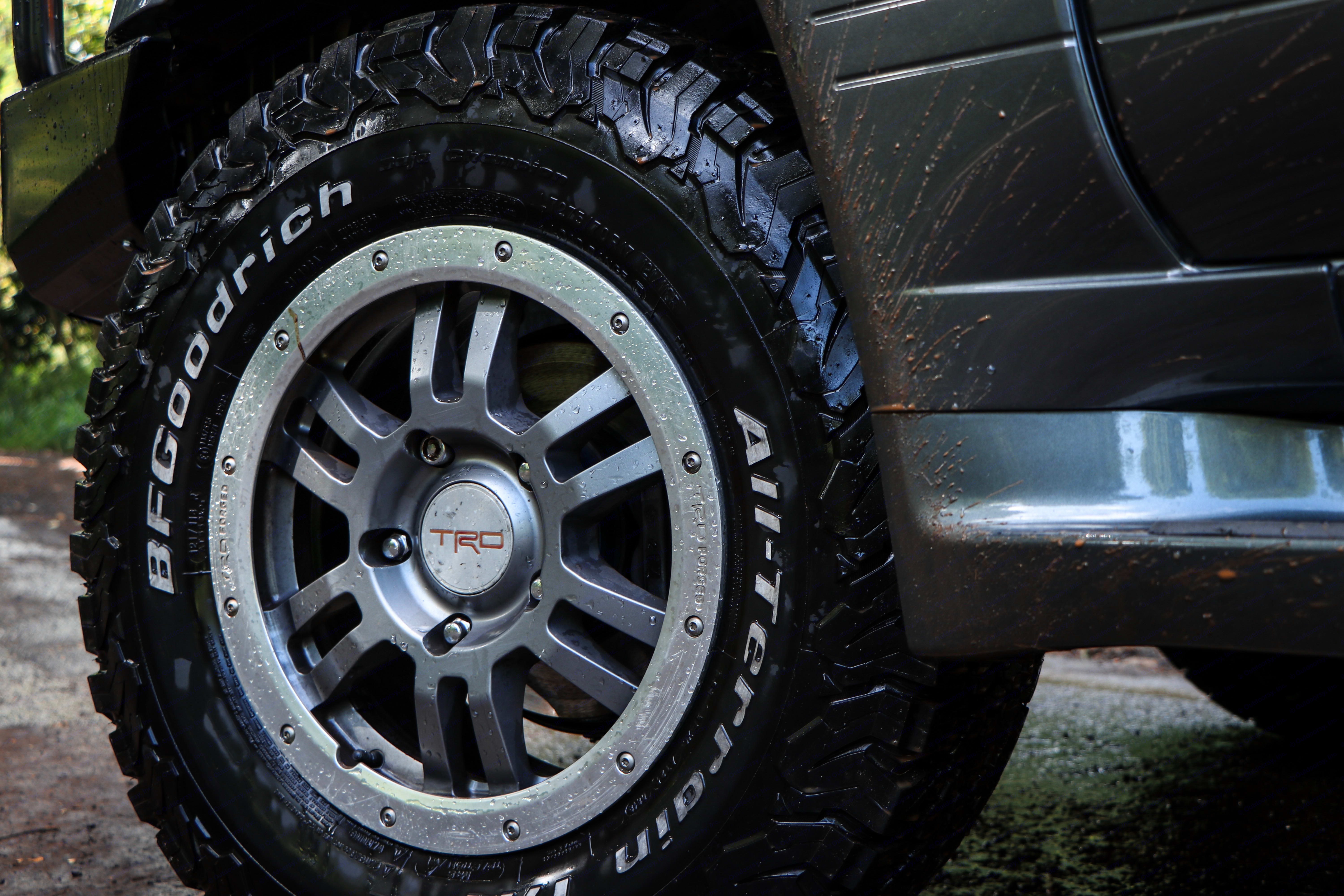 """""""The King K"""" BF Goodrich KO2 tires to keep your grounded and in control on your Big Island adventure. . Lexus LX 470 2002"""