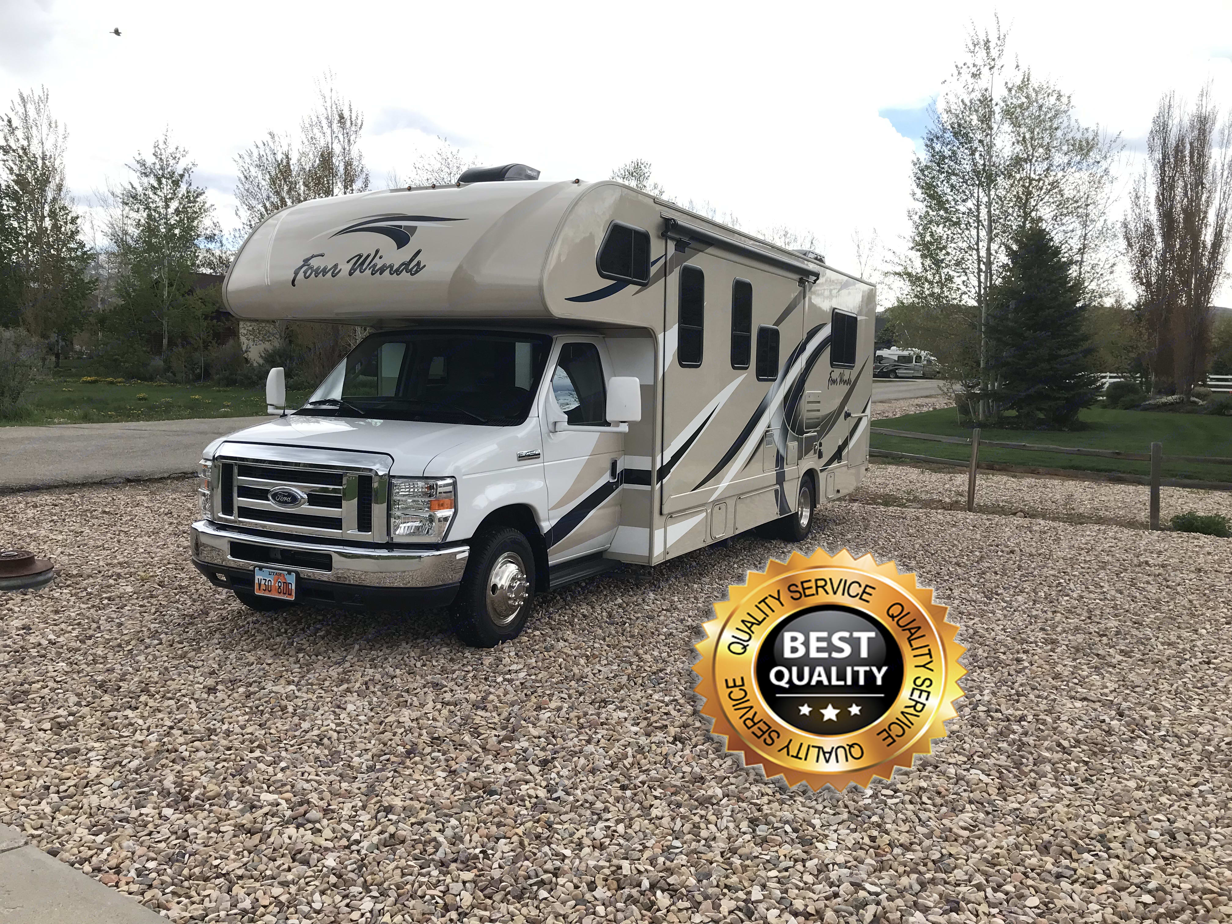 Drives without a problem. First time Motorhome drivers won't have a problem!. Thor Motor Coach Four Winds 2018