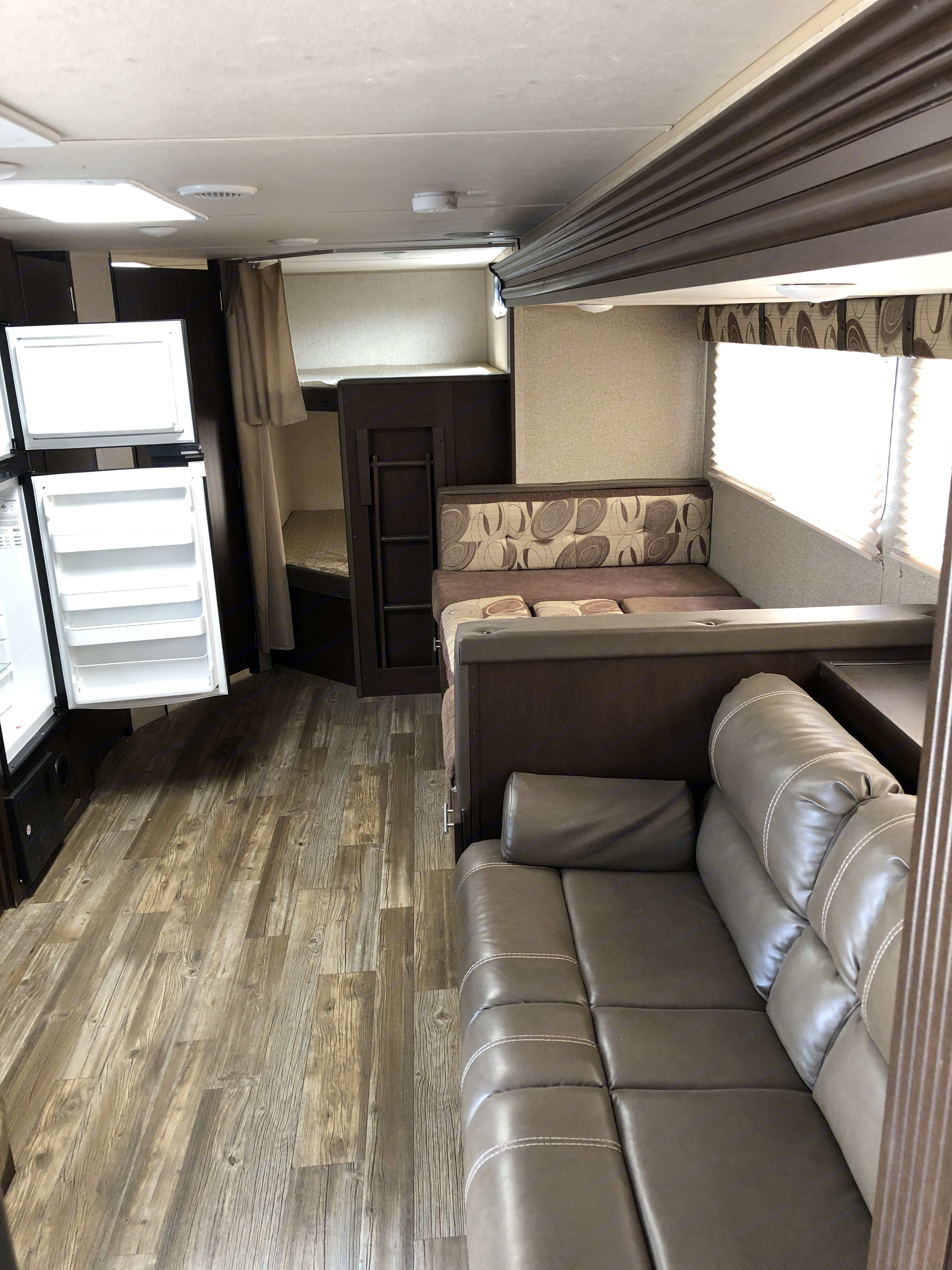 Main area with 2 couches. Forest River Cherokee Grey Wolf 2016