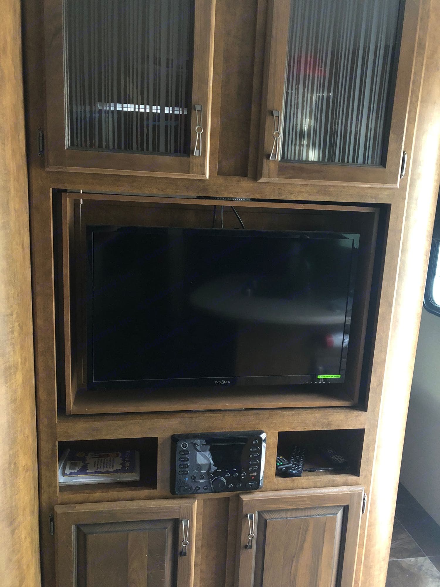 DVD player, Bluetooth capable, wii available as well.. Crossroads Reserve 2016
