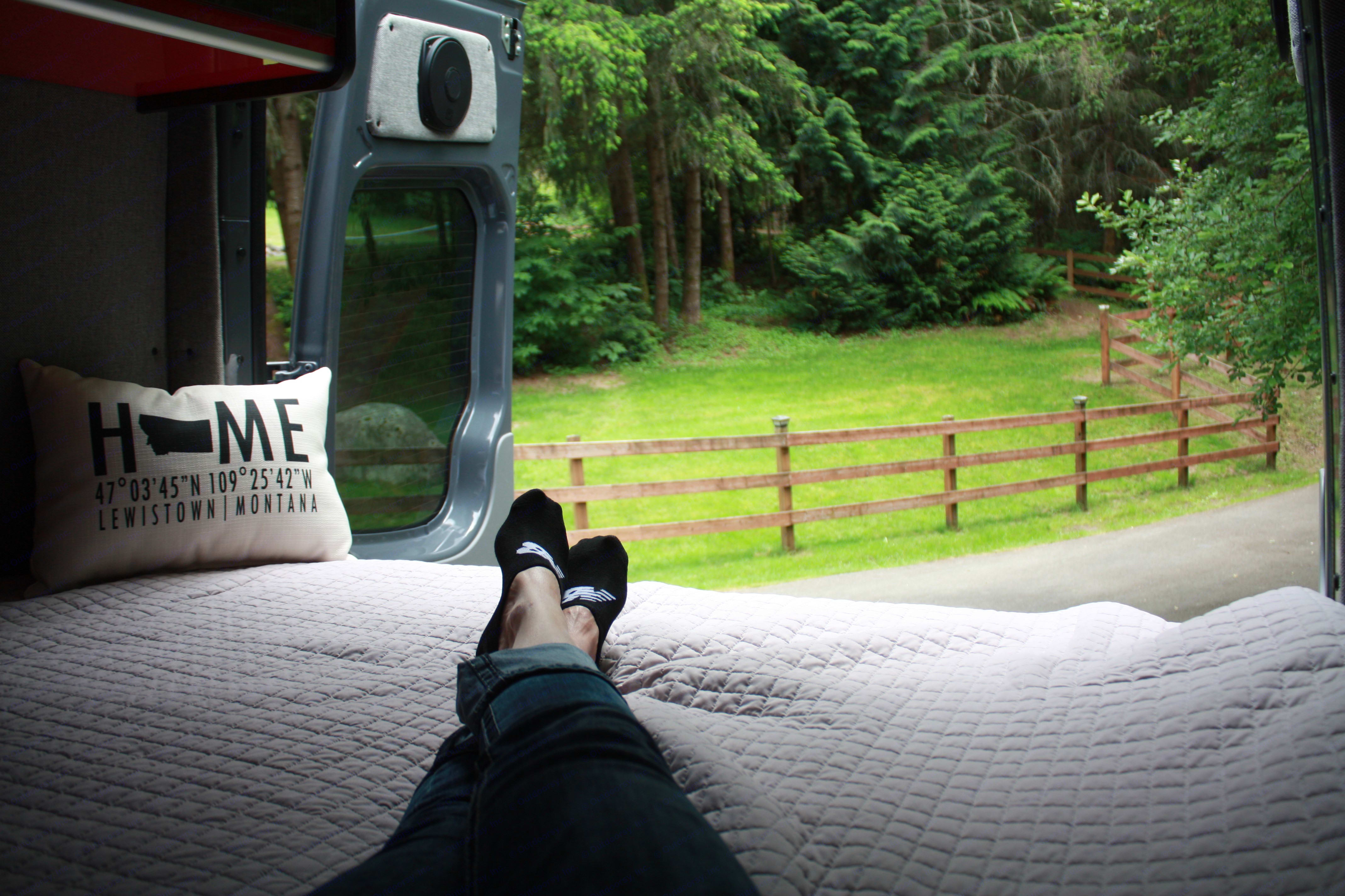 Perfect for reading a book and enjoying the view. Mercedes-Benz Sprinter 2013