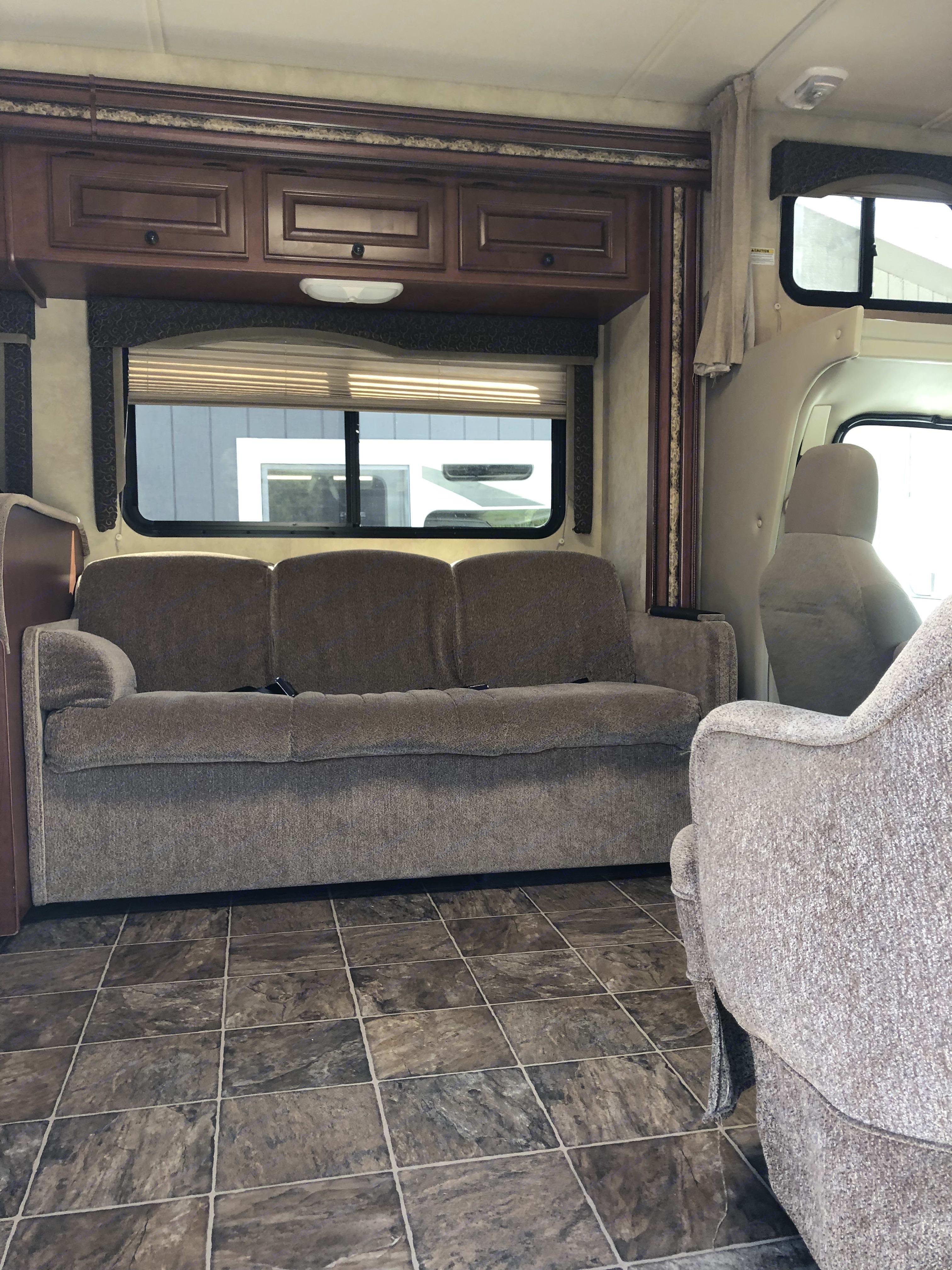 Sofa bed . Thor Motor Coach Freedom Elite 2012