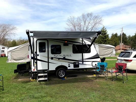 Great family camping. Palomino Solaire Expandable 2019
