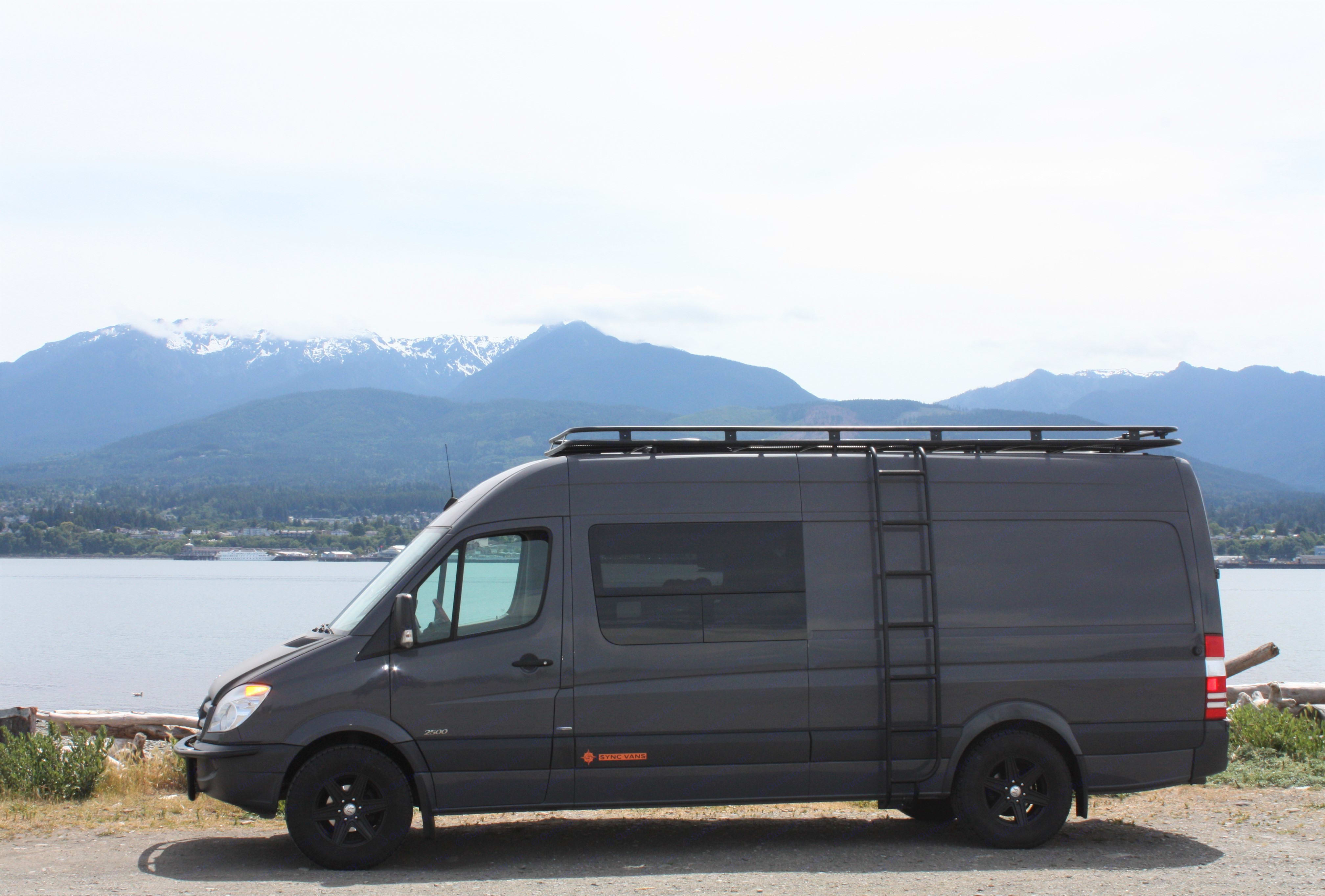 Hurricane Ridge in the background. All of this just an hour from our driveway.. Mercedes-Benz Sprinter 2013