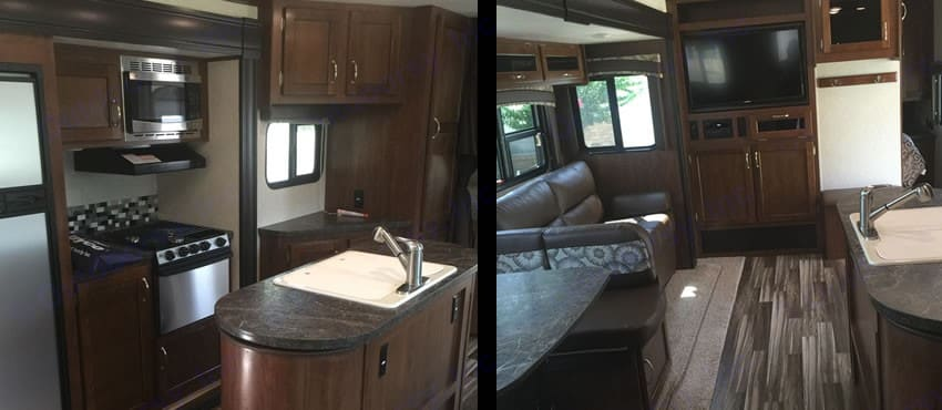 Wonderful Island, full size bunks, Queen bed, sofa, dinette, and nice bath.. Jayco Jay Flight 2017
