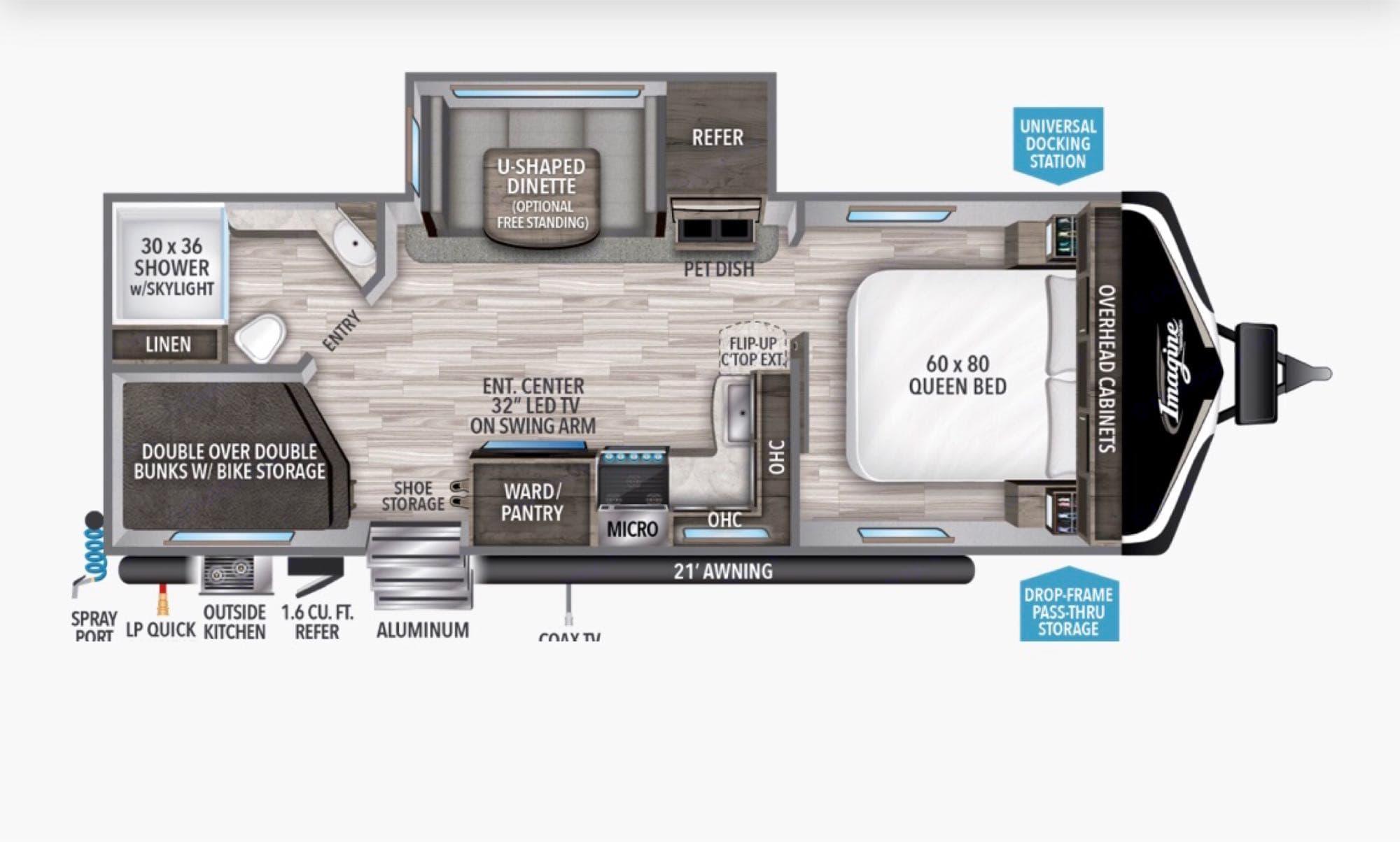 floorplan. Grand Design Imagine 2020