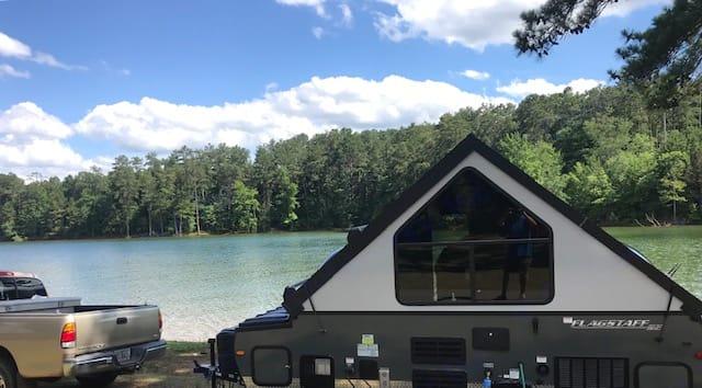 back side of camper. Forest River Flagstaff 2018