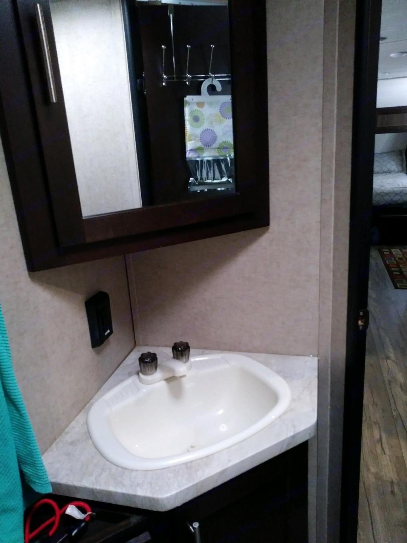 Bathroom. Forest River Grey Wolf Limited 2017