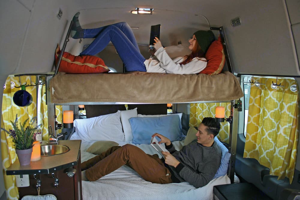 Dual Queen Bunk bed. Ford Transit 350 2019