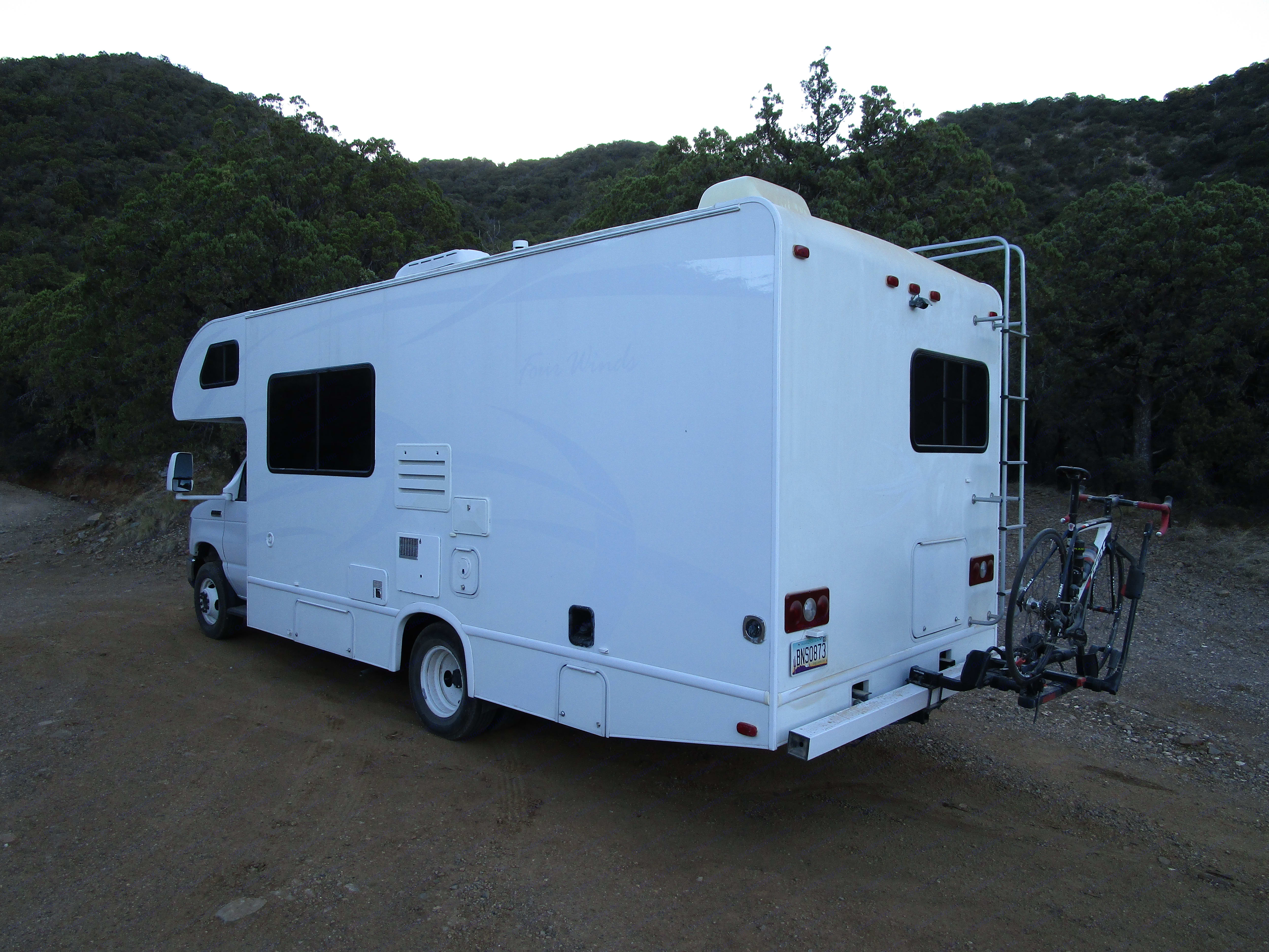 Our supersized ice cream truck!  Bike rack available.. Thor Motor Coach Four Winds 2013
