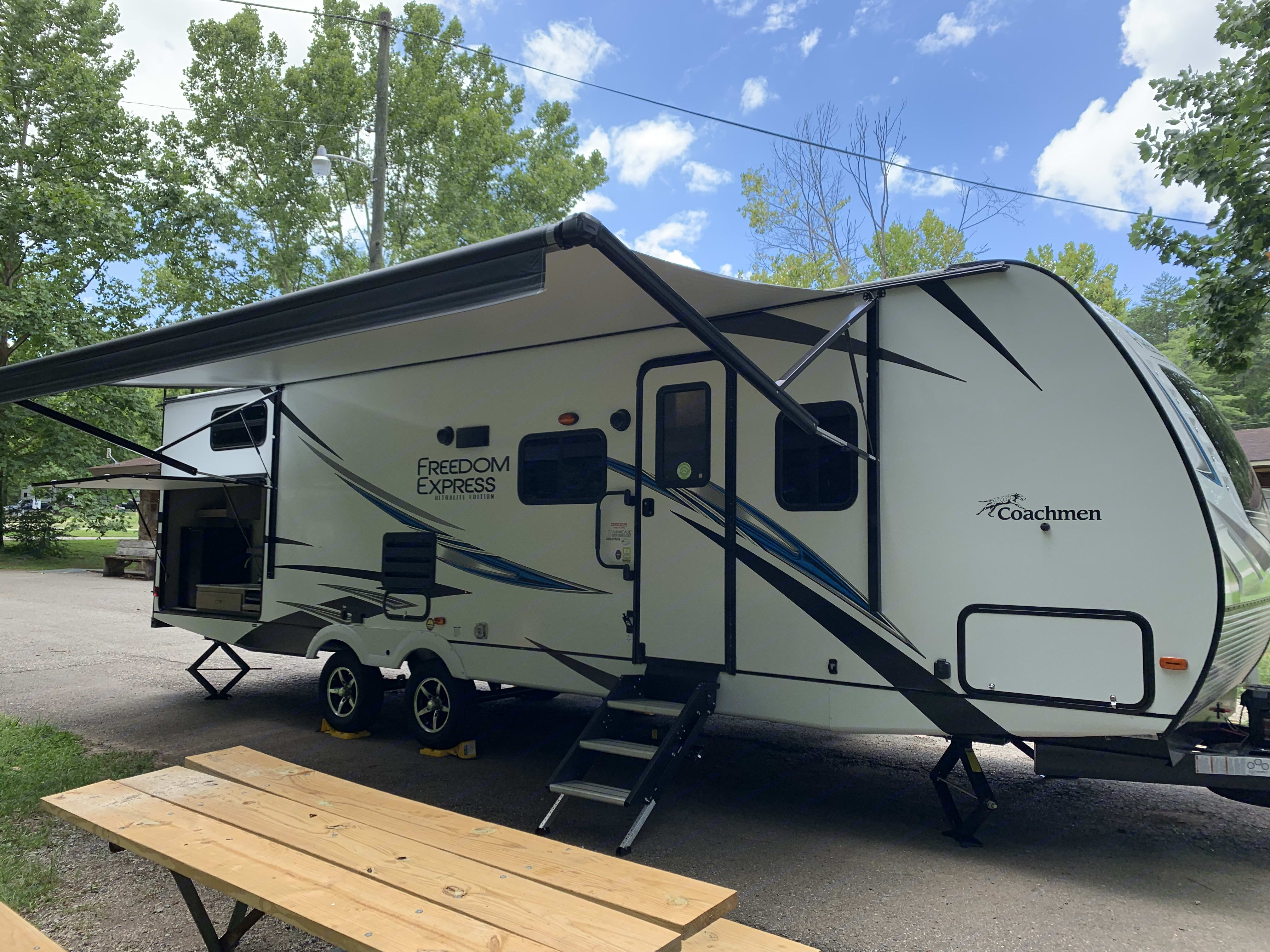 Fully set up and ready to go.. Coachmen Freedom Express 2020