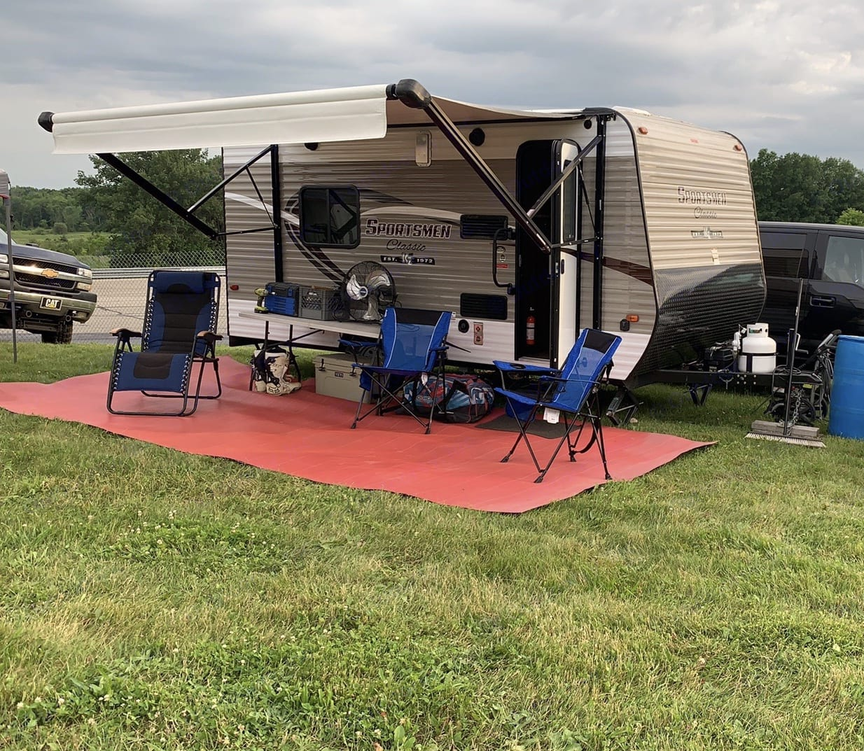 Set up for a weekend of motocross racing.. K-Z Manufacturing Sportsman Classic 2018