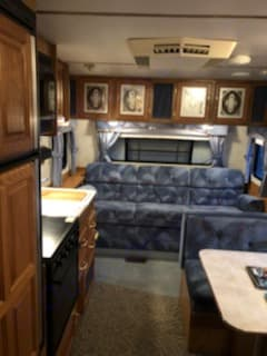 this unit features a very comfortable couch which folds down to comfortably sleep two. Jayco Camper Trailer- Eagle 1993