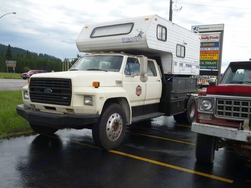 Ford F600 With 1994 Lance Camper 2014