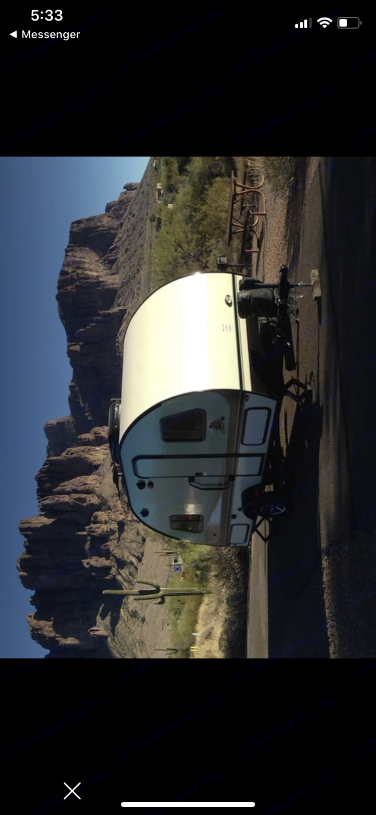 Fantastic view of the Superstition Mountains at nearby Lost Dutchman campground. . Forest River R-Pod 2016