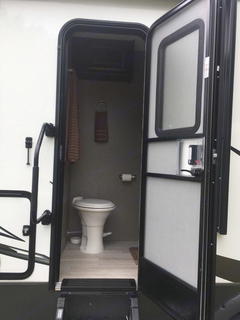 Exterior entrance to bathroom.. Forest River Rockwood Ultra Lite 2020