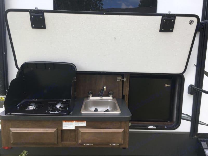 Outdoor kitchen.. Forest River Rockwood Ultra Lite 2020