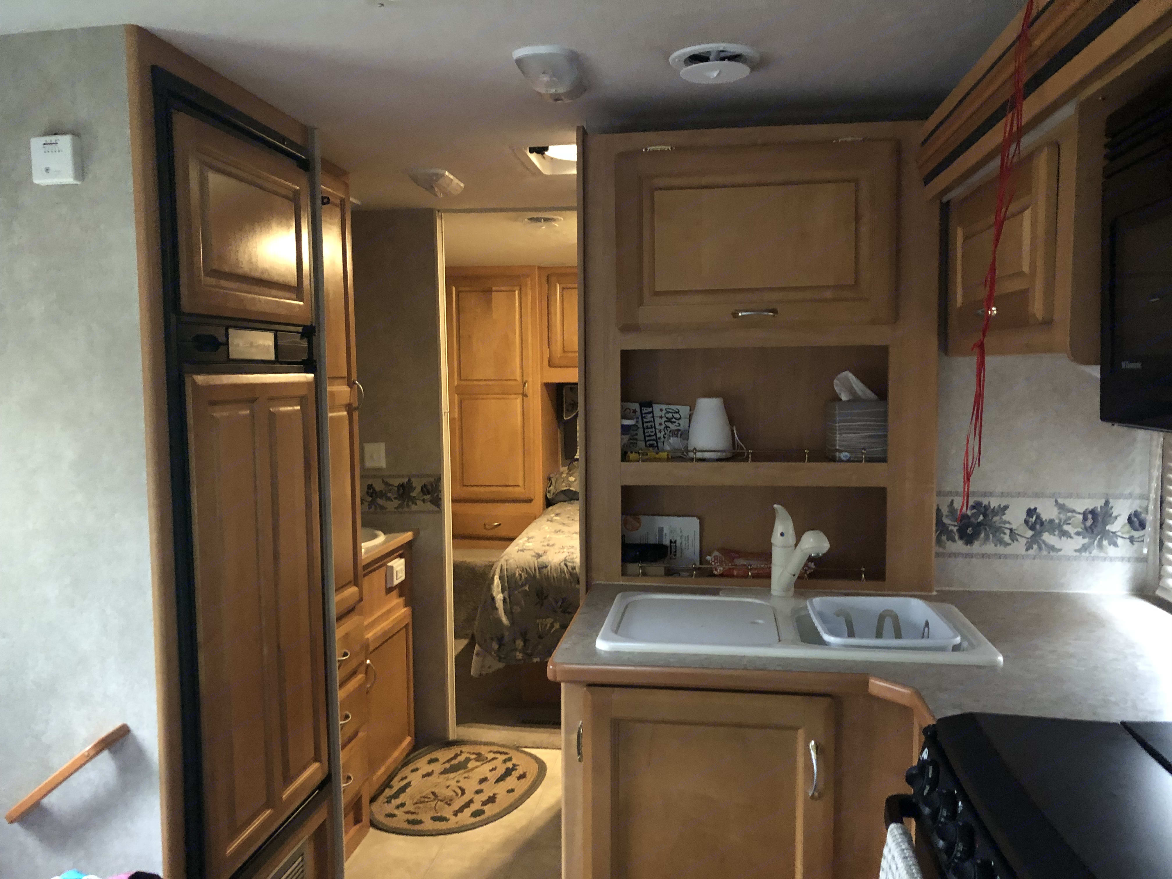 Kitchen area. Jayco Greyhawk 2005