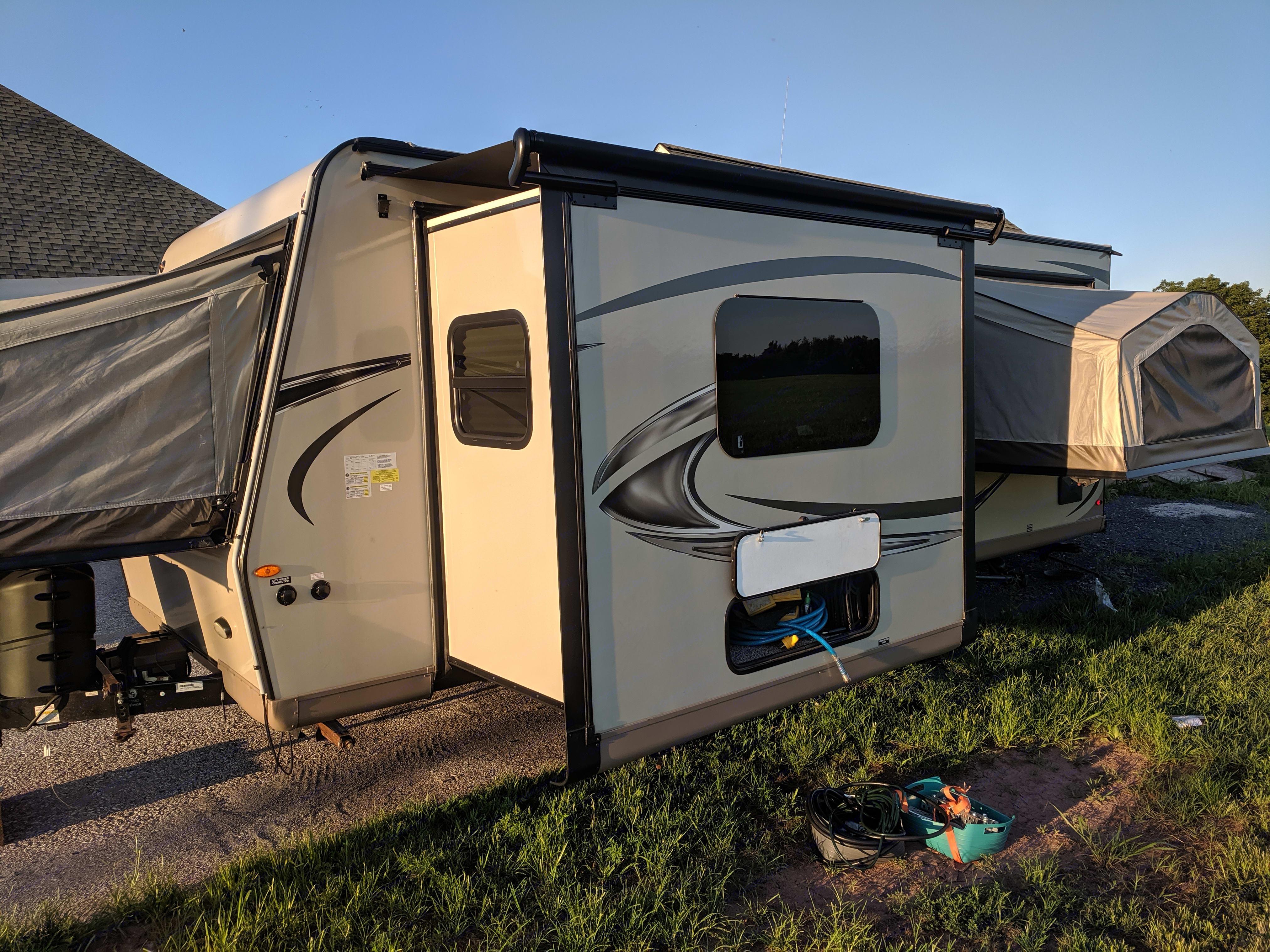 Outside, back side.. Forest River Flagstaff Shamrock 2019