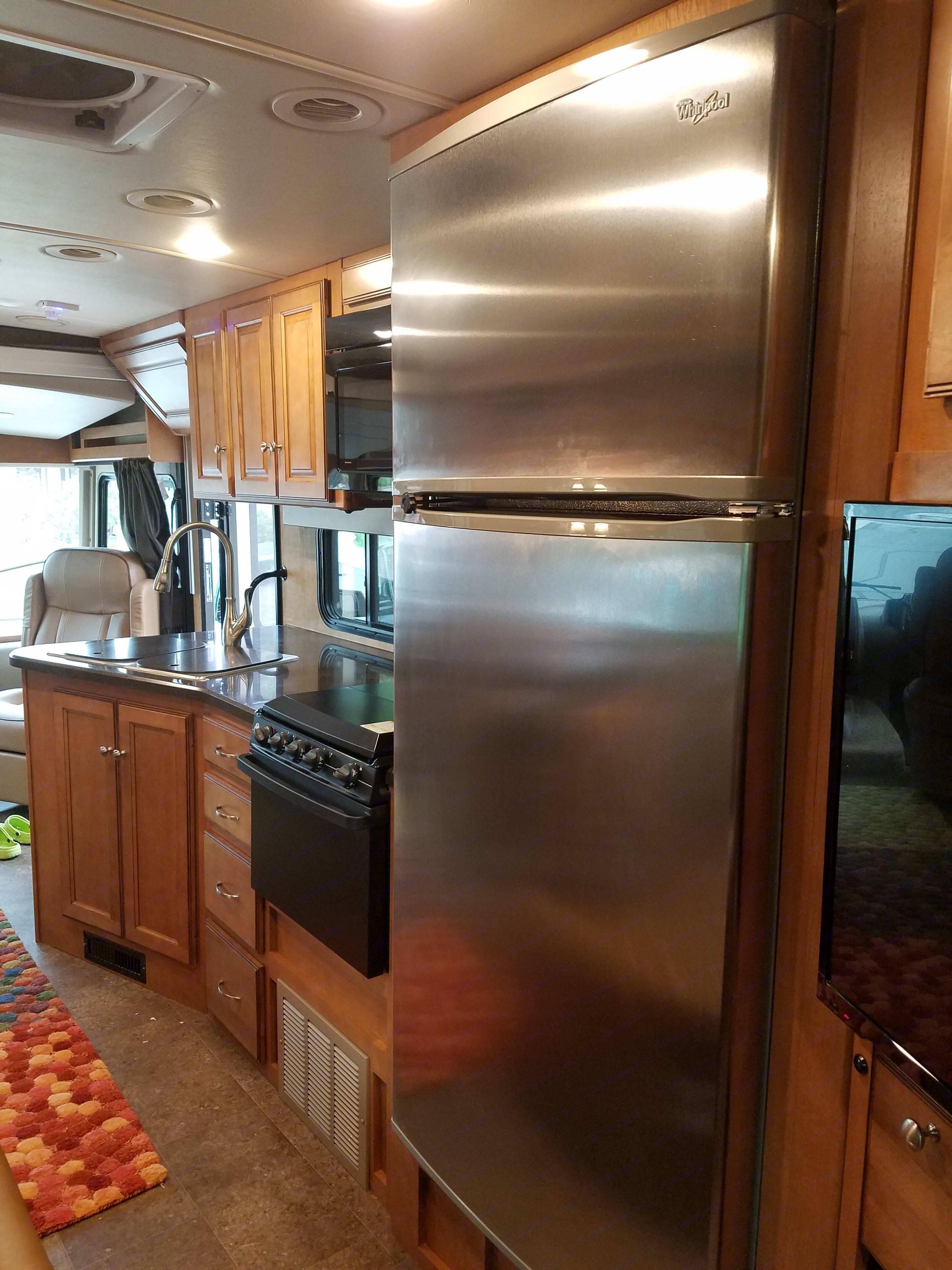 Full size house fridge . Winnebago Vista 2017